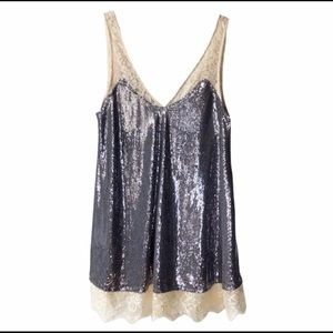 NWOT Intimately Free People Lace & Sequin Dress